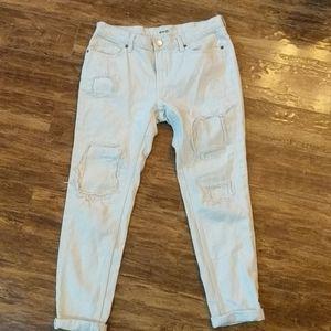 🔥 2 for $20 BDG Beige Slim Boyfriend Jeans 26w
